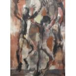 § Donald Friend (Australian, 1915-1989), 'Leaping Figures' (1962). Mixed media on paper.
