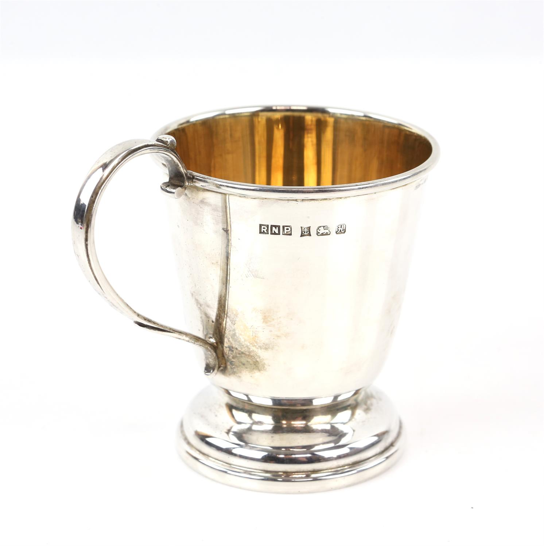 Silver mug/cup inscription free, by RNP, Birmingham, 1982 - Image 2 of 2