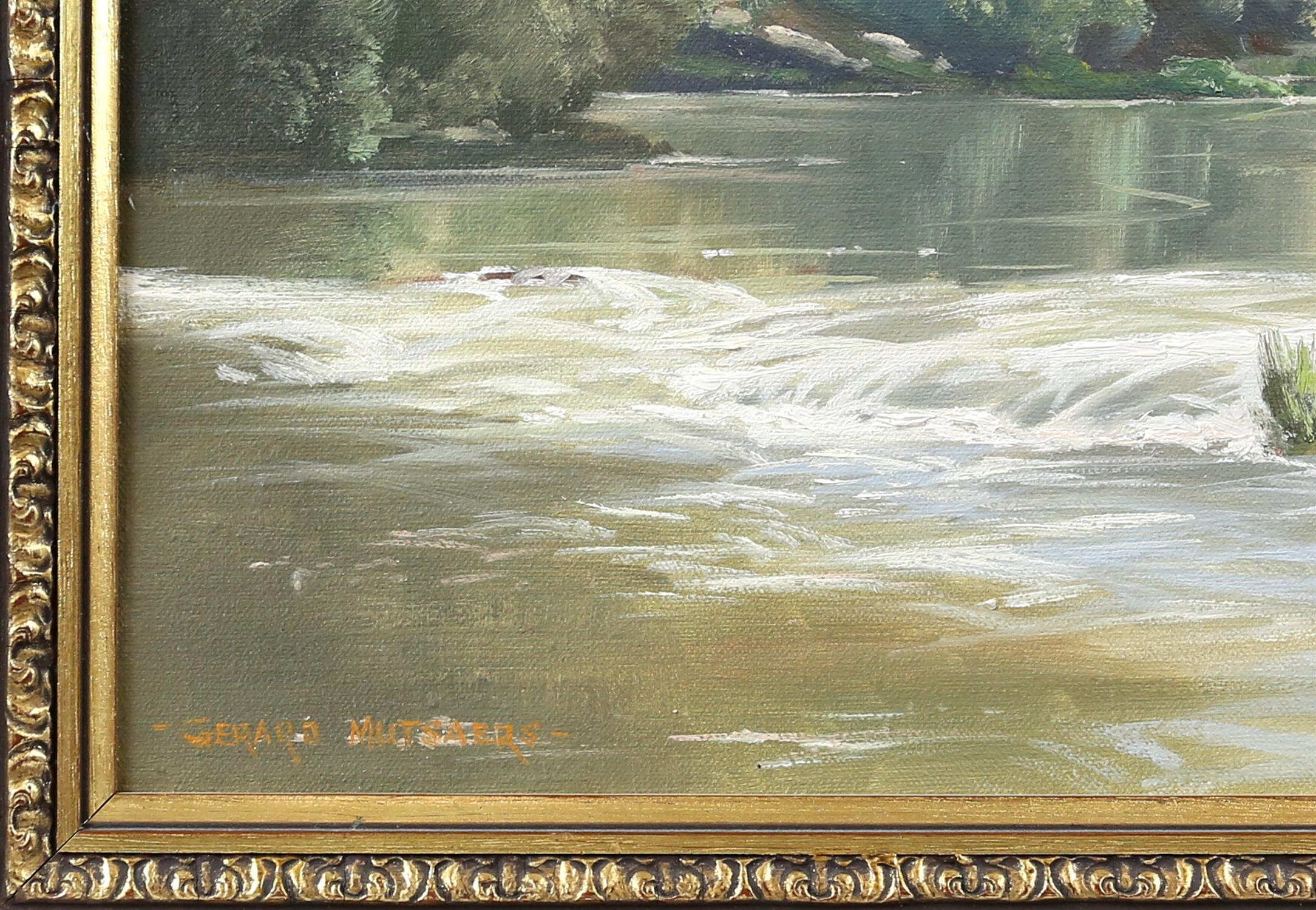 Gerard Mutsaers (Australian b. 1947), 'Morning Light, Yarra River, Warburton', signed, oil on board, - Image 4 of 4