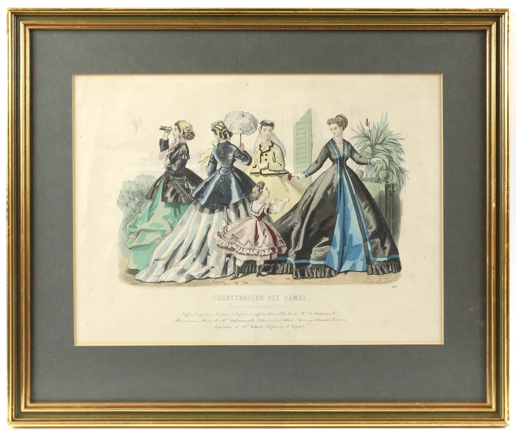 Collection of nineteenth-century French hand-coloured fashion prints, including 'Revue de la mode', - Image 2 of 5