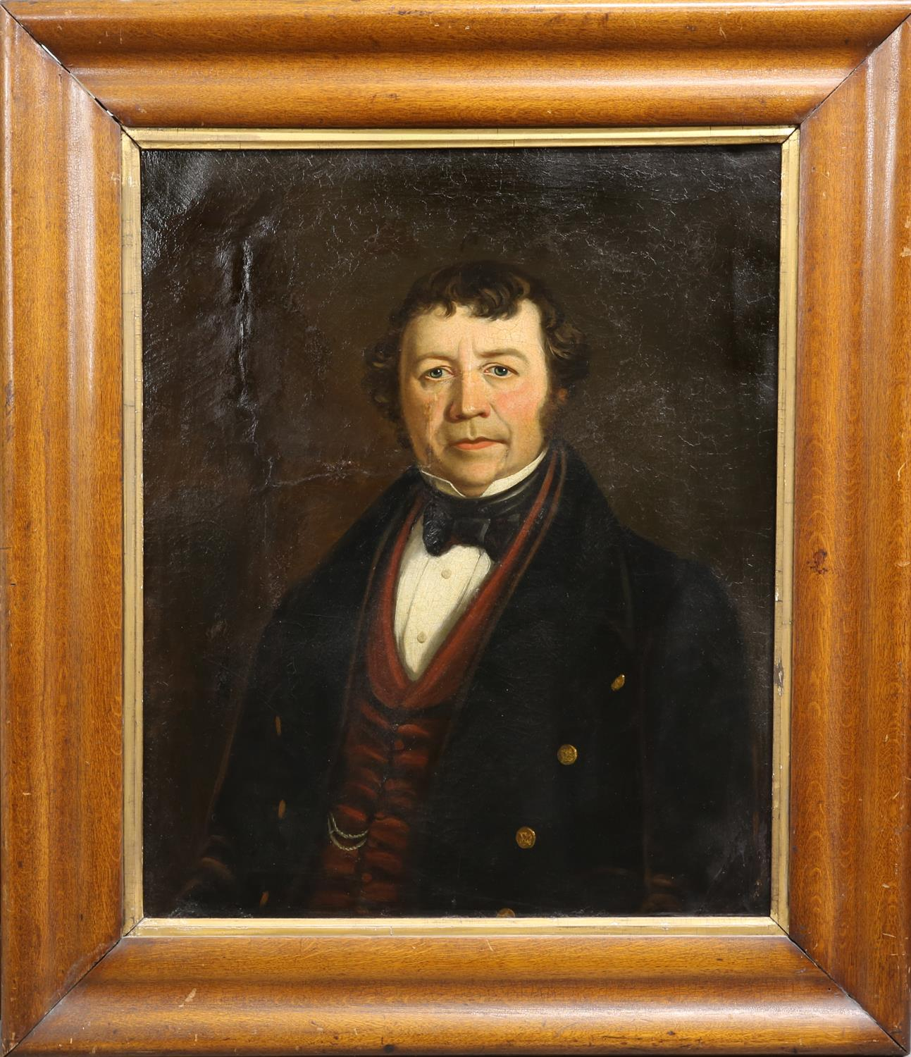 Victorian portrait of a gentleman, oil on canvas, unsigned, framed, 73 x 60.5cm - Image 2 of 3