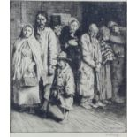 """William Strang (British, 1859-1921) """"The Causes of the Poor"""" (1893), etching. Signed in pencil to"""