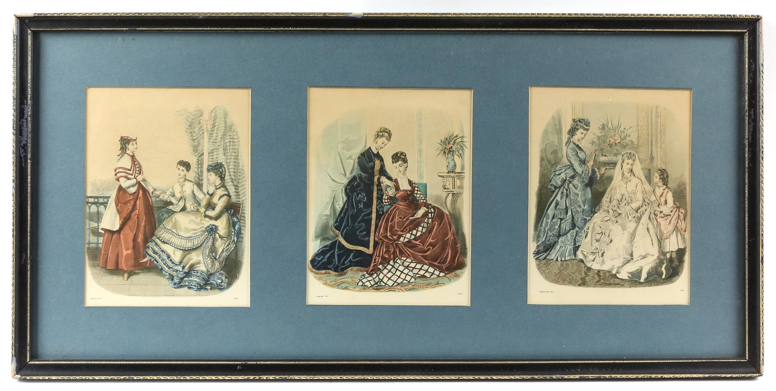 Collection of nineteenth-century French hand-coloured fashion prints, including 'Revue de la mode', - Image 3 of 5