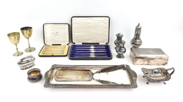 Various small silver plated items