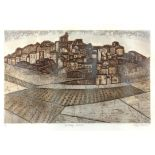 Valerie Thornton (British, 1931-1991). 'Hill Village, Navame'. Limited-edition lithograph. Signed,