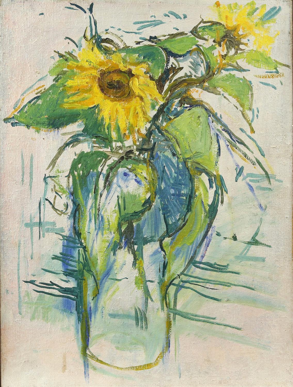 Peter Noel Perkins, abstract landscape. Oil on board. Signed lower left. Framed. Image size 33 x - Image 5 of 7