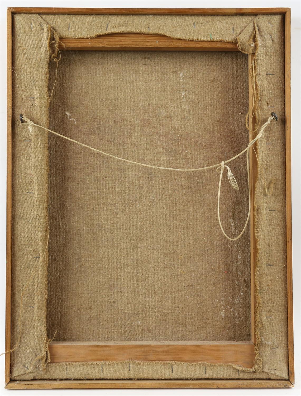 Peter Noel Perkins, abstract landscape. Oil on board. Signed lower left. Framed. Image size 33 x - Image 7 of 7