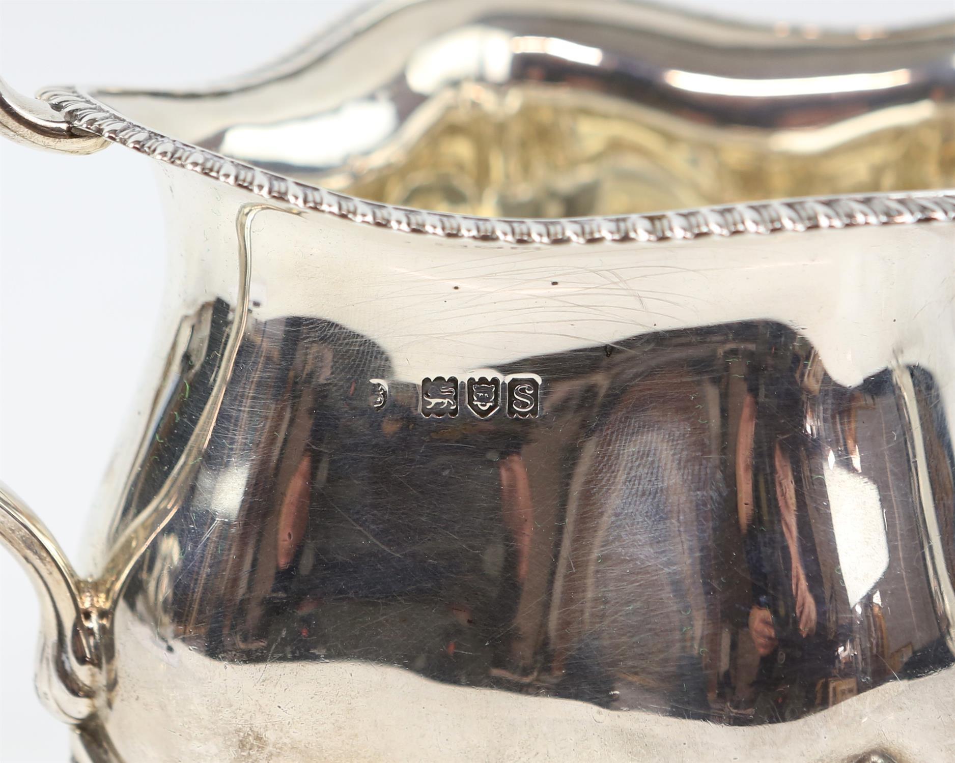 Four piece silver tea and coffee service of fluted diamond shape comprising Coffee Pot, Tea Pot, - Image 7 of 10