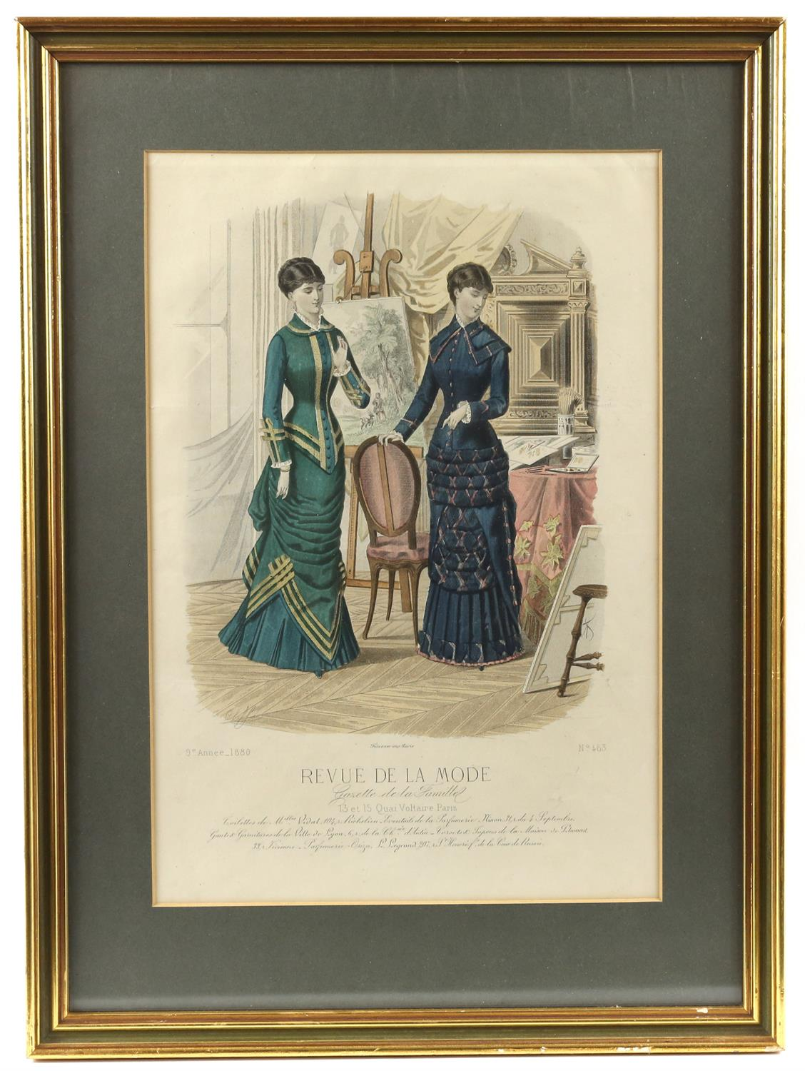 Collection of nineteenth-century French hand-coloured fashion prints, including 'Revue de la mode', - Image 4 of 5