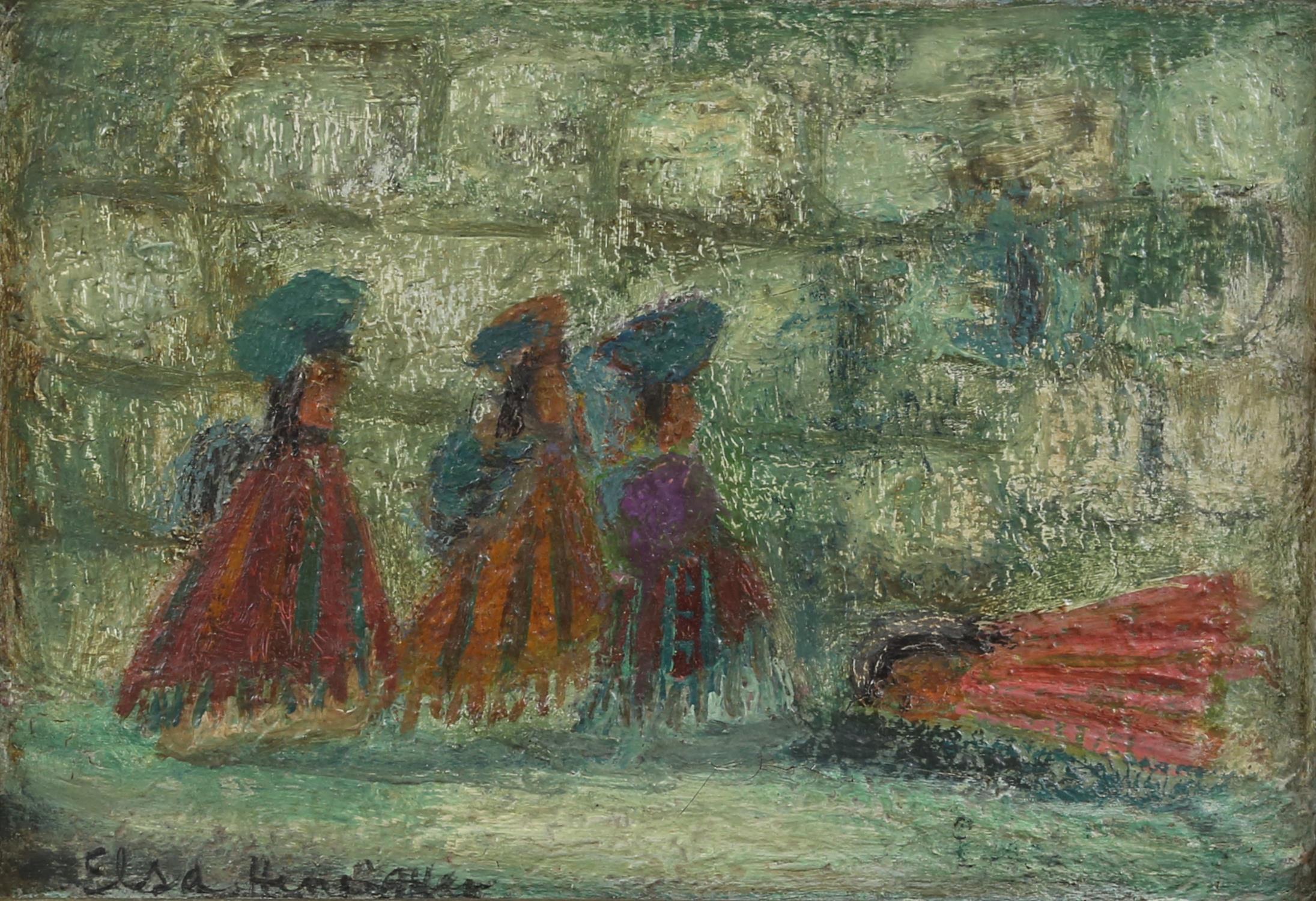AMENDED DESCRIPTION and ESTIMATE Elsa Henriquez, (Argentinian b. 1932), 'The Wailing Wall,
