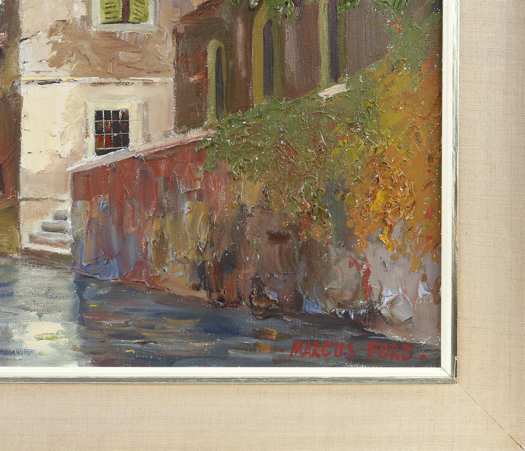 Marcus Ford (British 1914-1989), Venice canal scene, signed, oil on canvas, 44.5 x 74.5cm, - Image 3 of 4