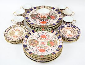 Derby wares to include 6 Royal Crown Derby imari pattern cups and saucers and 6 side plates and