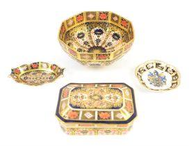 Royal Crown Derby Imari pattern octagonal bowl