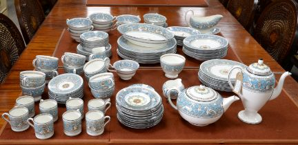 One hundred piece Wedgewood Florentine dinner service bought in 1954. The dinner service contains;