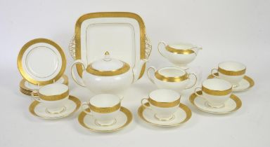 Wedgwood Bone China tea service, to include five cups and saucers, teapot, five cake plates,