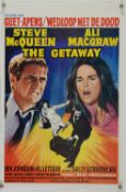 The Getaway (1972) Belgian film poster, 14 x 22 inches.
