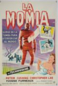 The Mummy (1959) Argentinian One Sheet film poster, starring Peter Cushing and Christopher Lee,