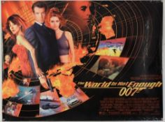 Three James Bond film posters, The World Is Not Enough (1999) British Quad & US One Sheet Teaser