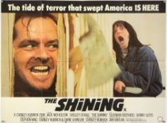 The Shining (1980) British Quad film poster, Horror directed by Stanley Kubrick, folded,