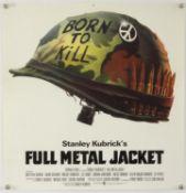 Full Metal Jacket (1987) unusual poster format for this Kubrick Vietnam War film,