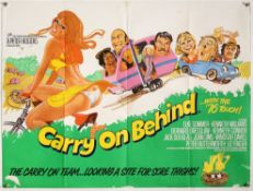 Carry On Behind (1975) British Quad film poster