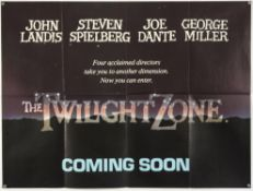 Twilight Zone (1983) British Quad Main and Teaser film posters, folded, 30 x 40 inches (2).