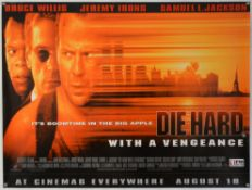 Two 1990's British Quad film posters: Die Hard With A Vengeance (1995) starring Bruce Willis &