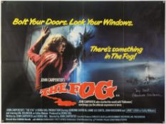 The Fog (1980) British Quad film poster, Horror directed by John Carpenter, signed by Adrienne