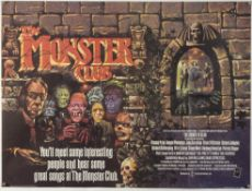 The Monster Club (1980) British Quad film poster, artwork by Graham Humphreys, starring Vincent