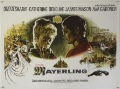 Mayerling (1968) British Quad film poster with Omar Sharif & Catherine Deneuve with poster