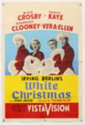 White Christmas (1954) British Double Crown film poster, folded, 20 x 30 inches.