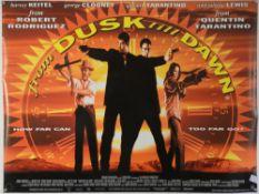 From Dusk Till Dawn (1996) British Quad film poster for the vampire thriller co-written & starring