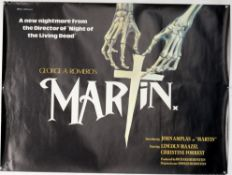 Martin (1978) British Quad film poster, horror directed by George A Romero, Miracle Films, rolled,