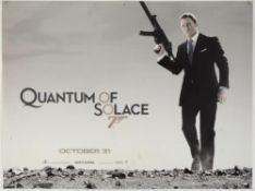 James Bond Quantum Of Solace (2008) Three British Quad film posters for the Daniel Craig James Bond