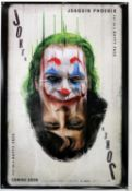 Joker (2019) Thai One Sheet film poster, double sided rare playing card style, rolled,