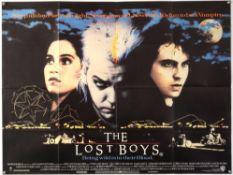 The Lost Boys (1987) British Quad film poster, Cult Horror directed by Joel Schumacher, Warner Bros,