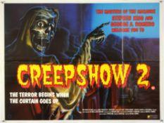 Creepshow 2 (1987) British Quad film poster, horror by Stephen King & George A. Romero, New World,