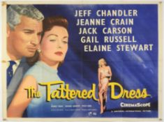 The Tattered Dress (1957) British Quad film poster for the film-noir starring Jeff Chandler &