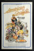 American Graffiti (1973) US One sheet film poster, artwork by Mort Drucker, Universal,