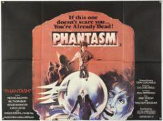 Phantasm (1978) British Quad film poster, directed by Don Coscarelli, GTO Films, folded,
