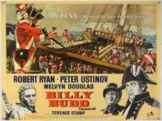 Billy Budd (1962) British Quad film poster, for this nautical adventure starring Robert Ryan &