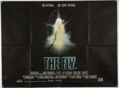 The Fly (1986) British Quad film poster, directed by David Cronenberg, folded, 30 x 40 inches.