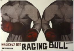 Raging Bull (R-2008) Polish commercial poster, limited edition, rolled, 27 x 39 inches.