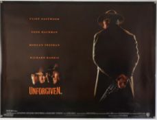 Unforgiven (1992) Two film posters, British Quad & US One Sheet Teaser poster, the Teaser being the