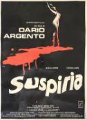 Suspiria (1977) Italian four folio film poster, horror starring Jessica Harper, linen backed,