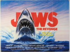 Jaws: The Revenge (1987) British Quad film poster, folded, 30 x 40 inches.