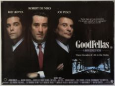 Goodfellas (1990) British Quad film poster, for the Martin Scorsese gangster classic starring