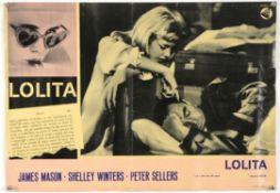 Lolita (1962) Italian photobusta film poster, folded, 18 1/2 x 26 1/2 inches.