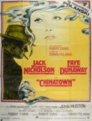 Chinatown (R-1970's) French Grande film poster, folded, 47 x 63 inches.