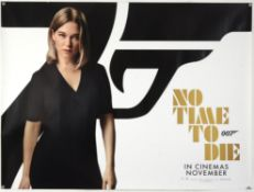 James Bond No Time To Die (2020) Six character British Quad teaser film posters, each showing a
